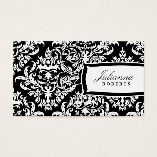 311-Julianna Day n' Night Damask Business Card