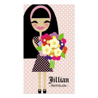 311 KILA FLOWER & BUTTERFLY INTERCHANGEABLE HAIR BUSINESS CARD TEMPLATE
