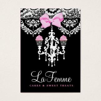 311 La Femme Cakes Black Business Card
