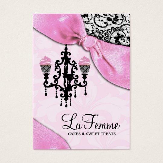 311 La Femme Cakes Pink Business Card