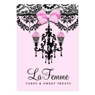311 La Femme Cakes Pink Deux Business Card Template