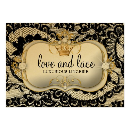 311-Lace de Luxe - Ciao Bella Metallic Business Cards