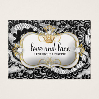 311 Lace de Luxe Ciao Bella Metallic Gold Business Card