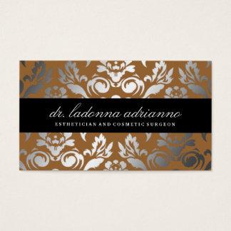 311 Ladonna Damask Bronze Business Card