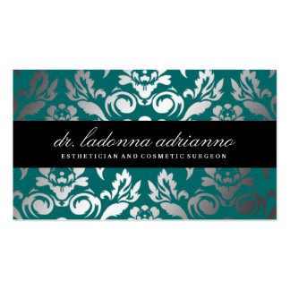 311 Ladonna Damask Deep Teal Pack Of Standard Business Cards
