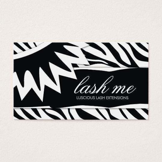 311-Lash Me | Zebra Stripes Business Card
