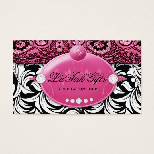 311-Lavish Pink Delish with Fashionista Business Card