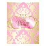 311 Lavish Pink Platter Golden Damask Personalized Flyer