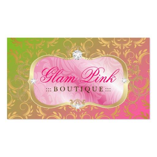 311 Lavish Pink Platter Golden Divine Lollipop Business Card Template