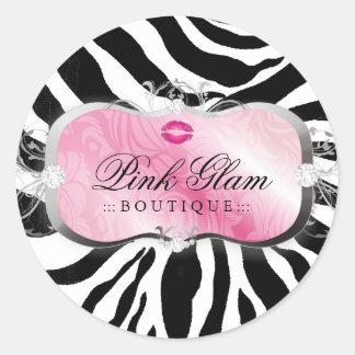 311 Lavish Pink Platter Kisses Sassy Sweets Round Sticker