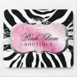 311-Lavish Pink Platter | Zebra Mousepad