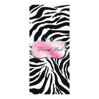 311 Lavish Pink Platter Zebra Price List Personalized Rack Card