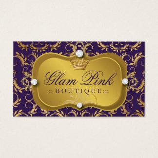 311 Lavish Solid Gold Tiara Divine Eggplant Business Card