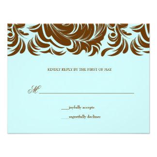 311-Lavishly Lainey Mint Chocolate RSVP Invitations