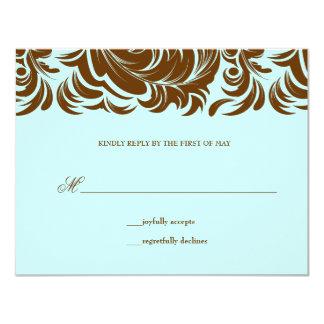 "311-Lavishly Lainey Mint Chocolate RSVP 4.25"" X 5.5"" Invitation Card"