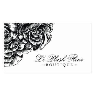 311-Le Plush Fleur - Black et White Double-Sided Standard Business Cards (Pack Of 100)
