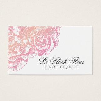 311-Le Plush Fleur - Creamy Pink Business Card