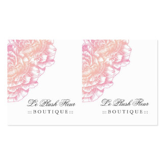 311 Le Plush Fleur Creamy Pink Double-Sided Standard Business Cards (Pack Of 100)