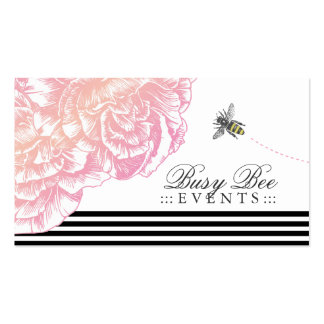 311 Le Plush Fleur with Bee Black Stripes Double-Sided Standard Business Cards (Pack Of 100)