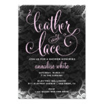 "311 Leather and Lace Shower Invitation 5"" X 7"" Invitation Card"