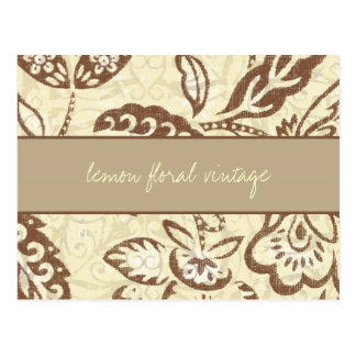 311 Lemon Floral Vintage Postcard