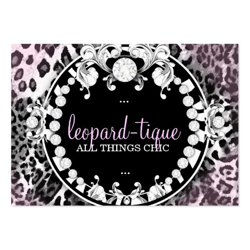 311 Leopard-Tique with Diamonds Pink Fade Pack Of Chubby Business Cards