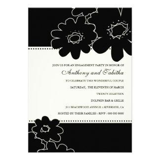 311-Les Fleurs Black Invitation