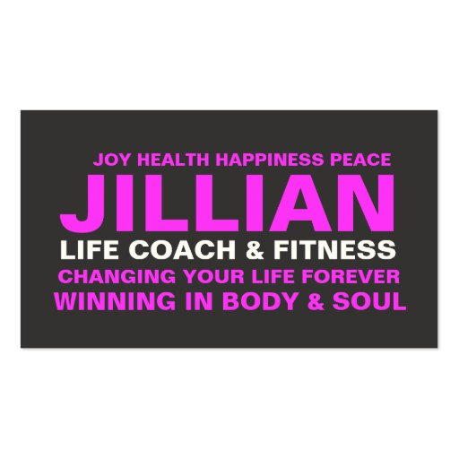 311 Life Coach Trainer Etc. Business Cards
