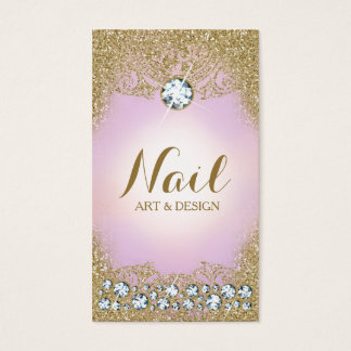 311 Lilac Diamond Vintage Glam Gold Glitter Business Card