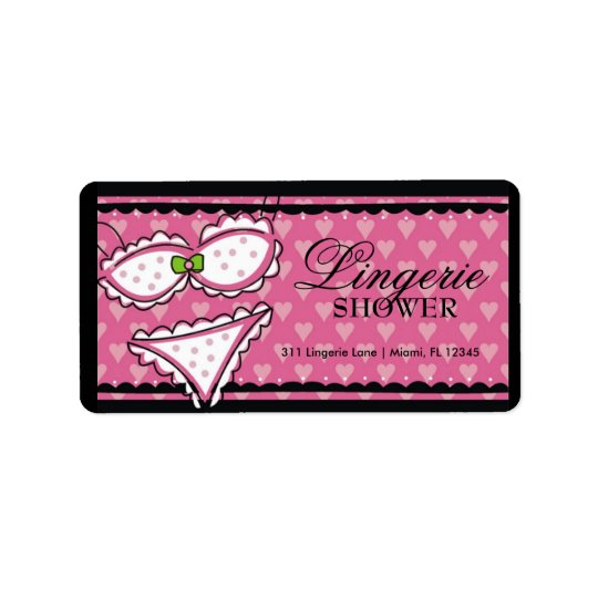 311 Lingerie Heart Address Label