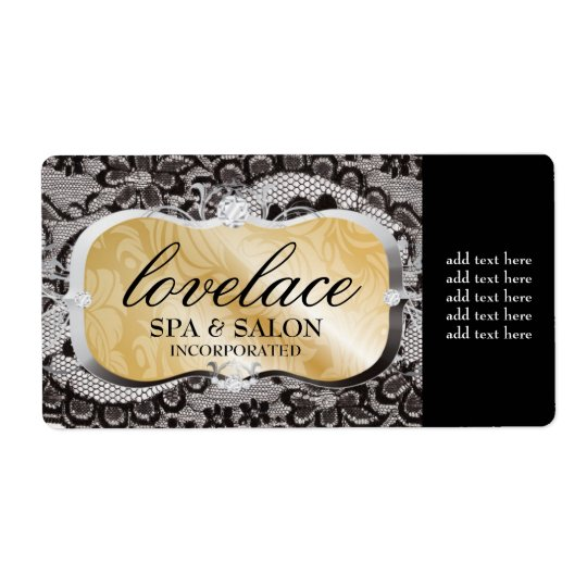 311 Love Lace Bronze Platter Shipping Label