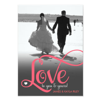 311 Love To You and Yours Photo Valentine 13 Cm X 18 Cm Invitation Card