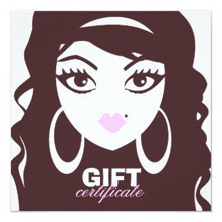 311 Luscious Lash / Hair Gift Certificate 13 Cm X 13 Cm Square Invitation Card