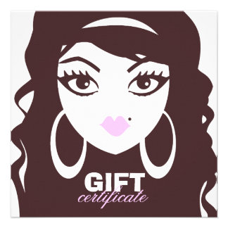311 Luscious Lash Hair Gift Certificate Personalized Announcements