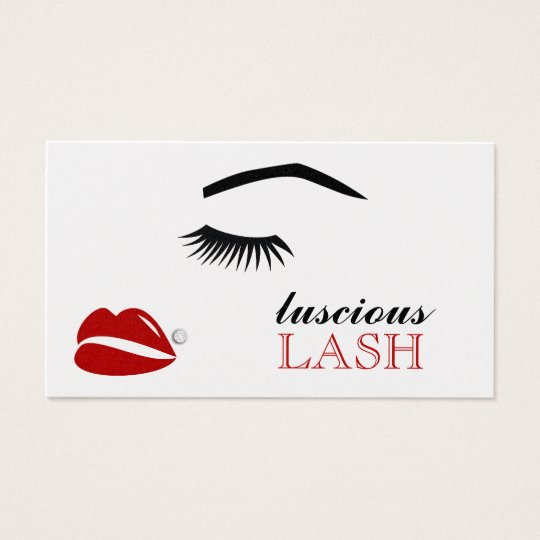 311 Luscious Lash Lip Bling Appointment Card