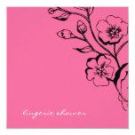 311-Lush Pink Lingerie 13 Cm X 13 Cm Square Invitation Card