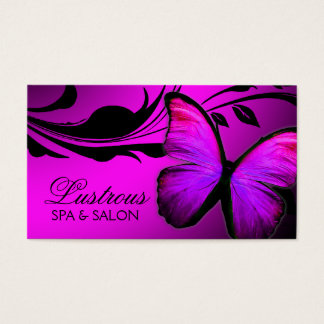 311 Lustrous Butterfly Pink & Purple Business Card