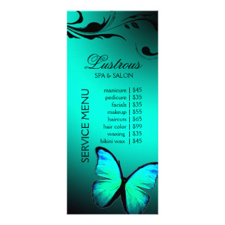 311 Lustrous Butterfly Turquoise Blue Rack Card