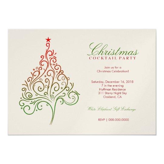 311-Magical Christmas Tree Invite   Metallic
