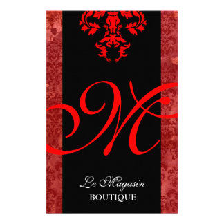 311 Marley Monogram Red 14 Cm X 21.5 Cm Flyer