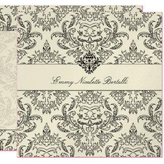 311-Metallic Emmy Cream Damask Invitation