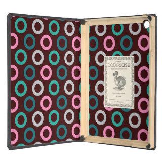 311 Miami Doughnut Dots Brown Background iPad Air Cases