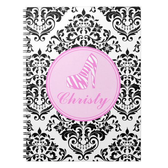 311 Miss Priss Zebra Heel Spiral Notebook
