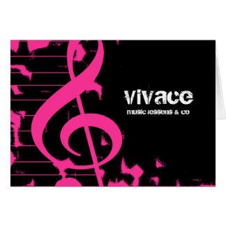 311-MUSICAL MAESTRO - GRUNGE HOTT PINK NOTE CARD