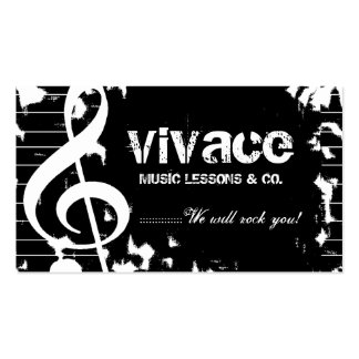 311-MUSICAL MAESTRO - GRUNGE PACK OF STANDARD BUSINESS CARDS