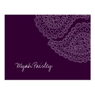 311 Myah Paisley Plum Postcard