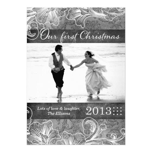 311 Newlywed First Christmas Holiday Card
