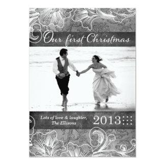311 Newlywed First Christmas Holiday Card Custom Invites