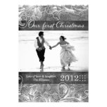 311 Newlywed First Christmas Holiday Card Personalised Invite