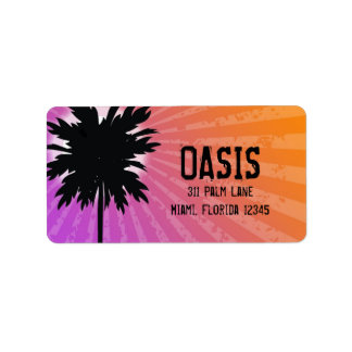 311 Oasis Palm Purple Address Label